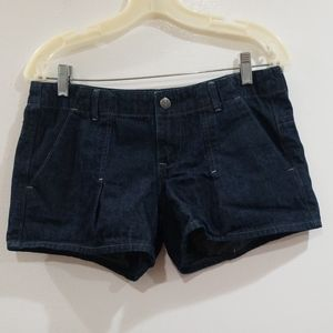 Old navy dark blue denim jean shorts size 6 women